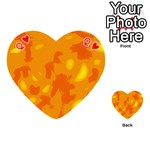 Orange decor Playing Cards 54 (Heart)  Front - HeartQ