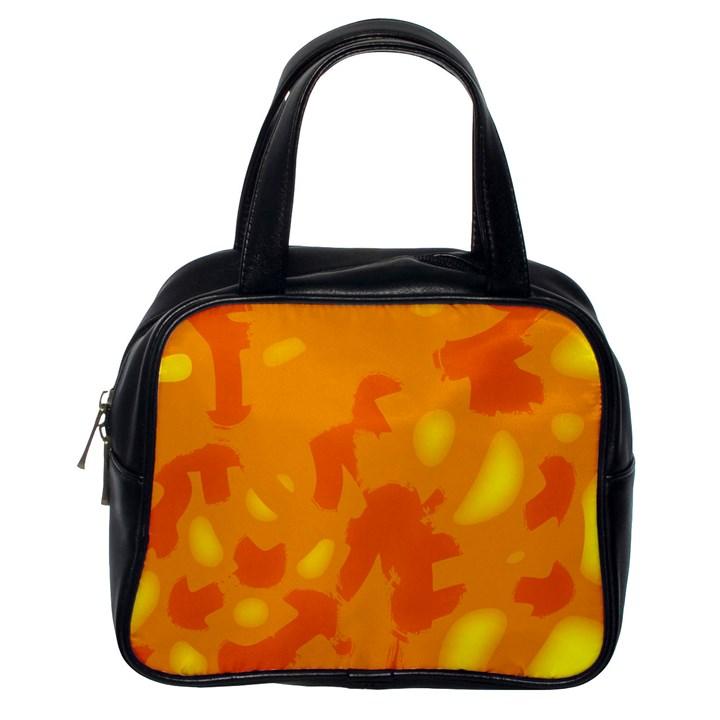 Orange decor Classic Handbags (One Side)