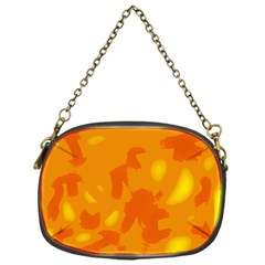 Orange Decor Chain Purses (one Side)  by Valentinaart
