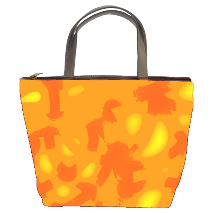 Orange decor Bucket Bags