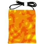 Orange decor Shoulder Sling Bags Front