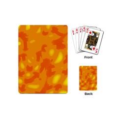 Orange Decor Playing Cards (mini)  by Valentinaart