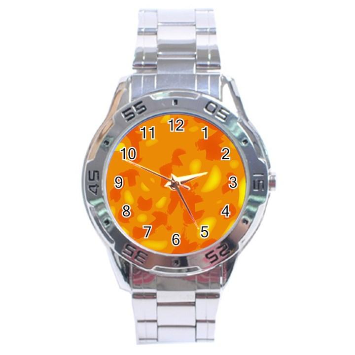 Orange decor Stainless Steel Analogue Watch