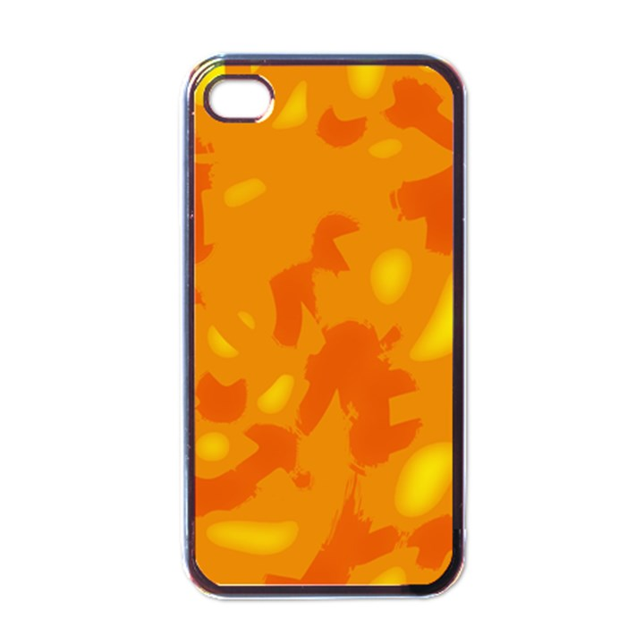 Orange decor Apple iPhone 4 Case (Black)