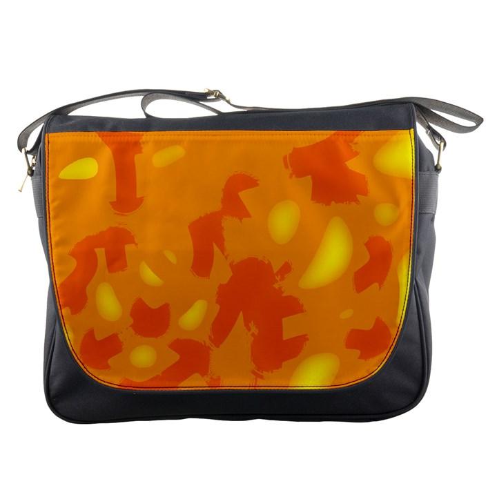 Orange decor Messenger Bags