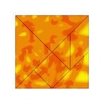 Orange decor Acrylic Tangram Puzzle (4  x 4 ) Front