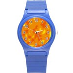 Orange decor Round Plastic Sport Watch (S) Front