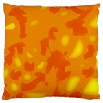 Orange decor Large Cushion Case (Two Sides) Back
