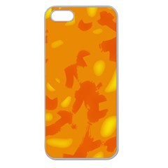 Orange Decor Apple Seamless Iphone 5 Case (clear) by Valentinaart