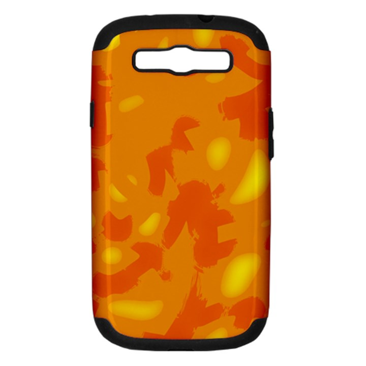 Orange decor Samsung Galaxy S III Hardshell Case (PC+Silicone)