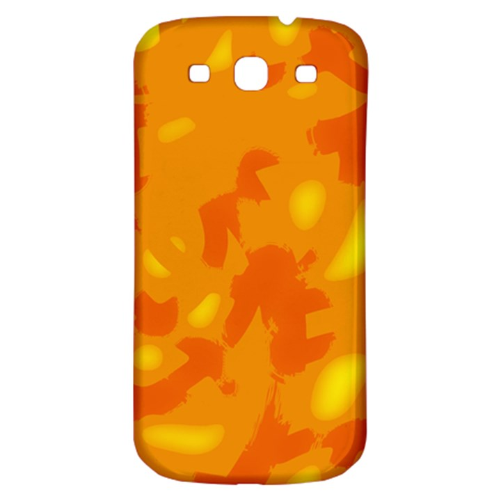 Orange decor Samsung Galaxy S3 S III Classic Hardshell Back Case