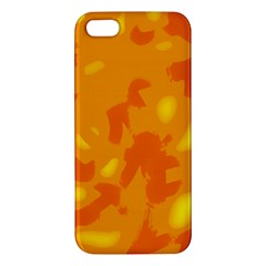Orange Decor Apple Iphone 5 Premium Hardshell Case