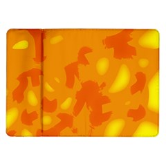 Orange Decor Samsung Galaxy Tab 10 1  P7500 Flip Case by Valentinaart
