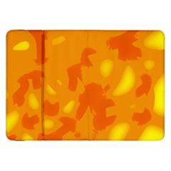 Orange Decor Samsung Galaxy Tab 8 9  P7300 Flip Case by Valentinaart