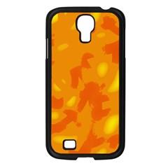 Orange Decor Samsung Galaxy S4 I9500/ I9505 Case (black)