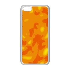 Orange decor Apple iPhone 5C Seamless Case (White)