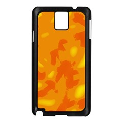 Orange Decor Samsung Galaxy Note 3 N9005 Case (black) by Valentinaart