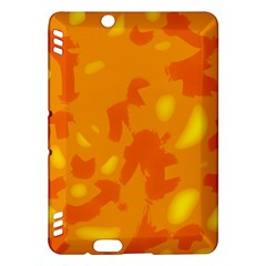 Orange Decor Kindle Fire Hdx Hardshell Case by Valentinaart