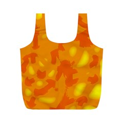 Orange Decor Full Print Recycle Bags (m)
