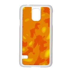 Orange Decor Samsung Galaxy S5 Case (white)