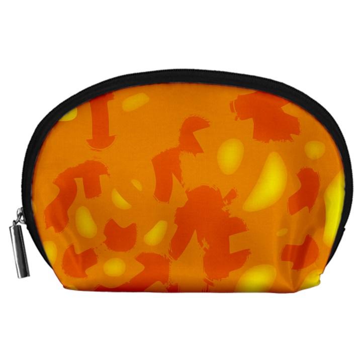 Orange decor Accessory Pouches (Large)