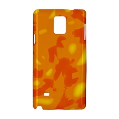 Orange Decor Samsung Galaxy Note 4 Hardshell Case by Valentinaart