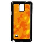 Orange decor Samsung Galaxy Note 4 Case (Black)