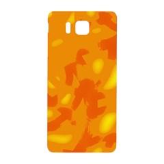 Orange Decor Samsung Galaxy Alpha Hardshell Back Case