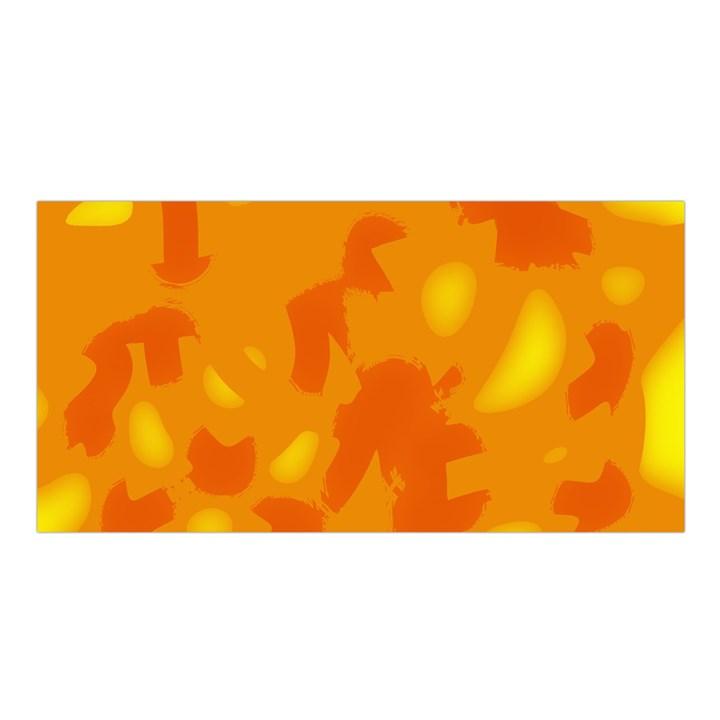 Orange decor Satin Shawl