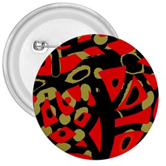 Red Artistic Design 3  Buttons by Valentinaart