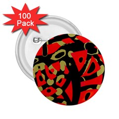 Red Artistic Design 2 25  Buttons (100 Pack)  by Valentinaart