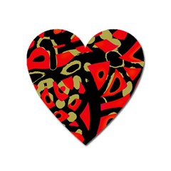 Red Artistic Design Heart Magnet