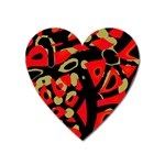 Red artistic design Heart Magnet Front