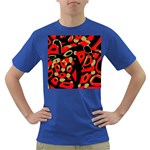 Red artistic design Dark T-Shirt Front