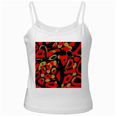 Red Artistic Design Ladies Camisoles by Valentinaart