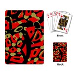 Red artistic design Playing Card Back