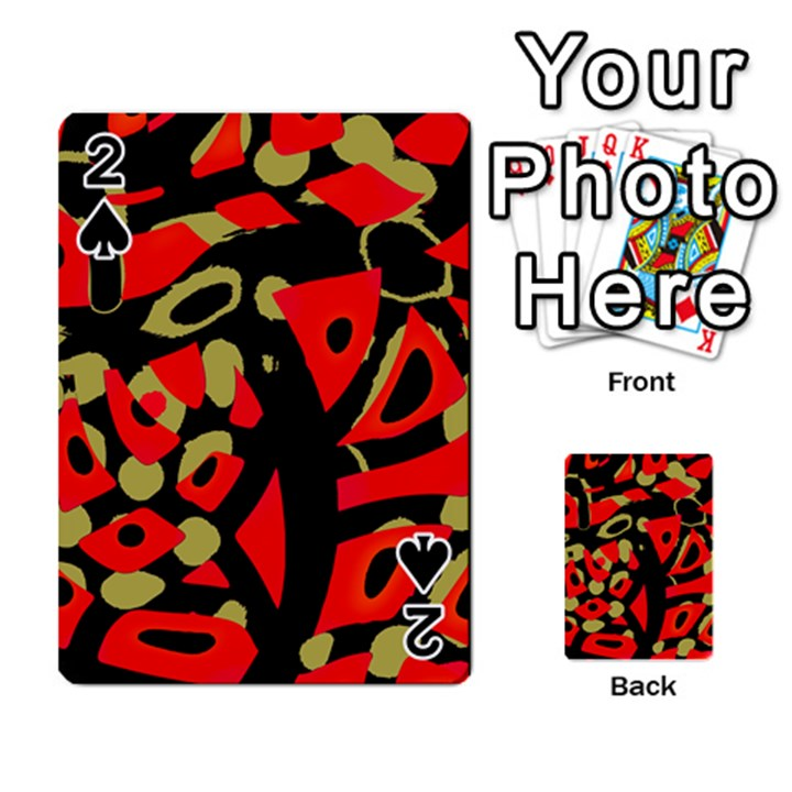 Red artistic design Playing Cards 54 Designs
