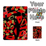Red artistic design Playing Cards 54 Designs  Front - Heart4