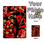 Red artistic design Playing Cards 54 Designs  Front - Diamond10