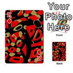 Red artistic design Playing Cards 54 Designs  Front - DiamondK