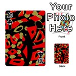 Red artistic design Playing Cards 54 Designs  Front - Club10