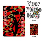 Red artistic design Playing Cards 54 Designs  Front - Joker2