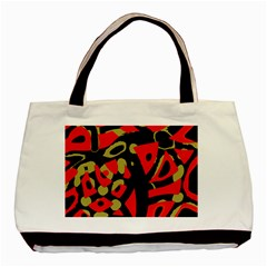 Red Artistic Design Basic Tote Bag (two Sides)