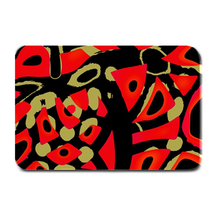 Red artistic design Plate Mats