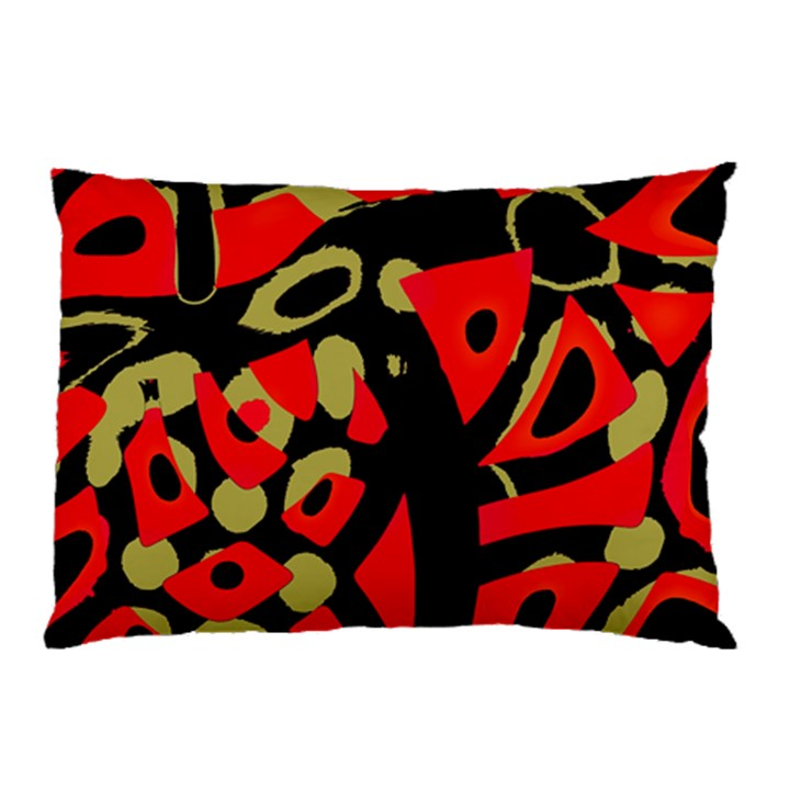 Red artistic design Pillow Case