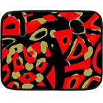 Red artistic design Double Sided Fleece Blanket (Mini)  35 x27 Blanket Back