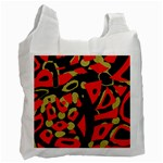 Red artistic design Recycle Bag (Two Side)  Front
