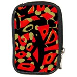 Red artistic design Compact Camera Cases Front