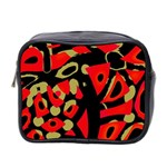 Red artistic design Mini Toiletries Bag 2-Side Front