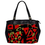 Red artistic design Office Handbags Front